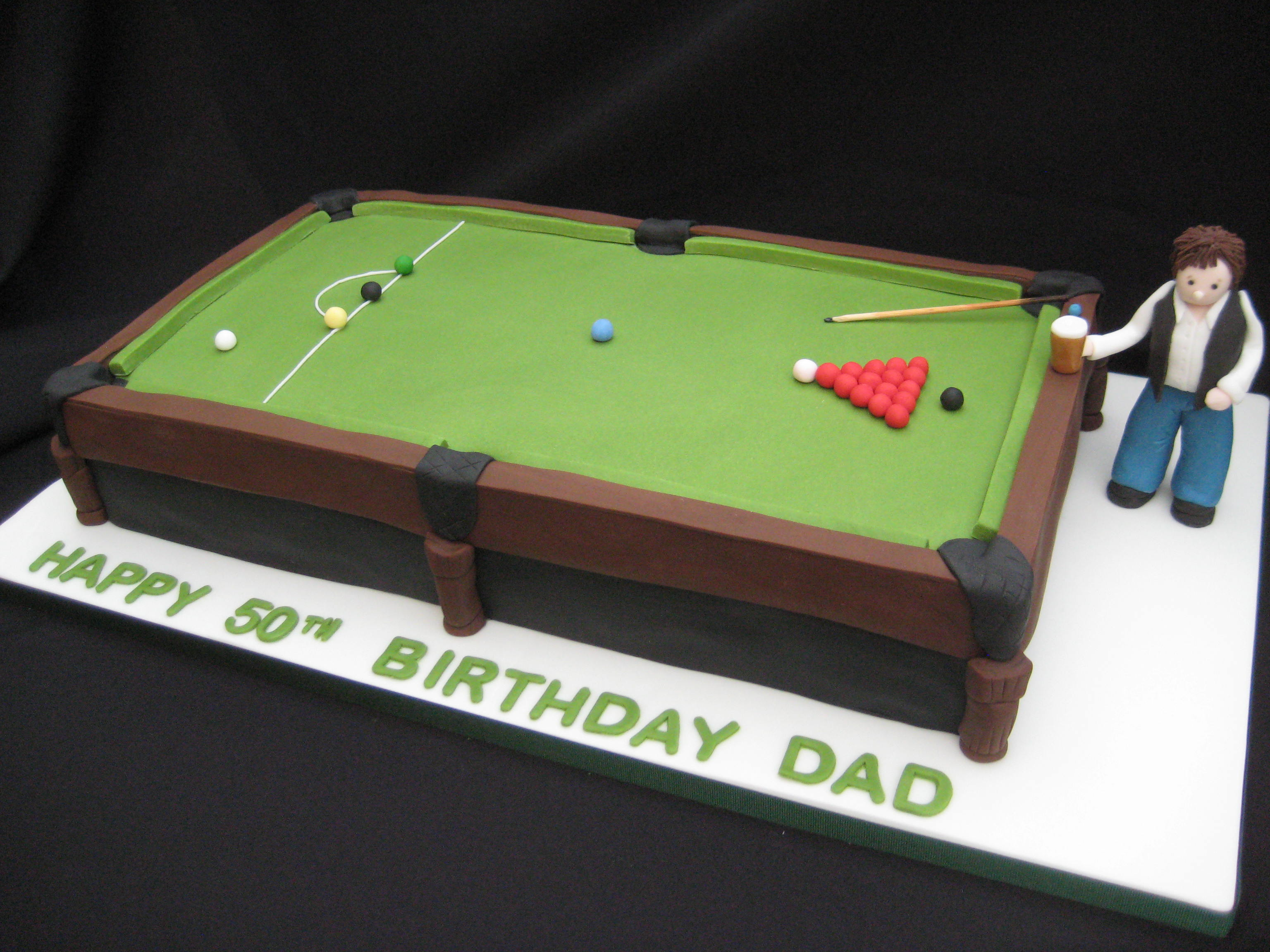 Snooker Table Birthday Cake