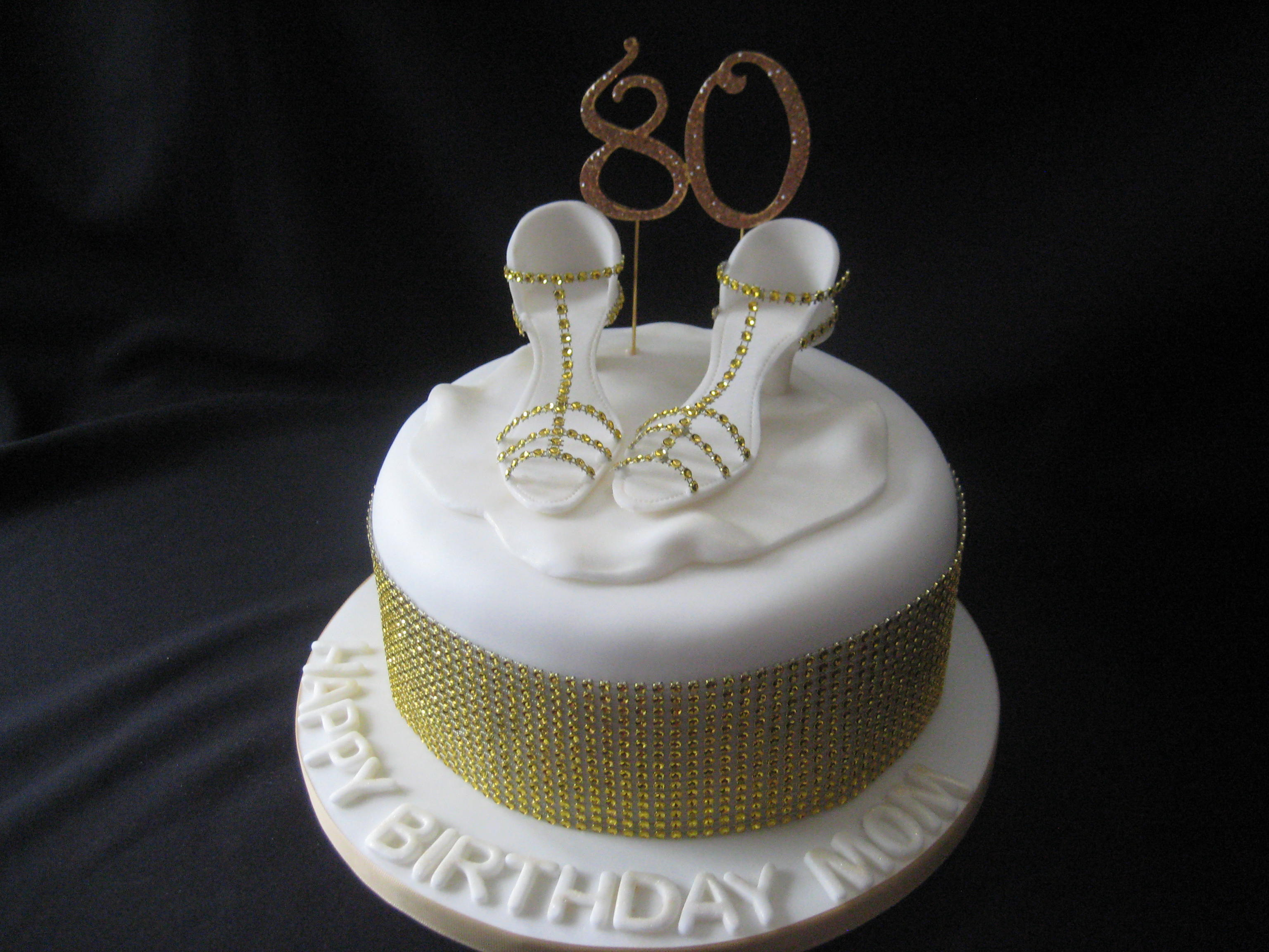 Swell Dancing Shoes 80Th Birthday Cake Wendy Cakes Personalised Birthday Cards Cominlily Jamesorg